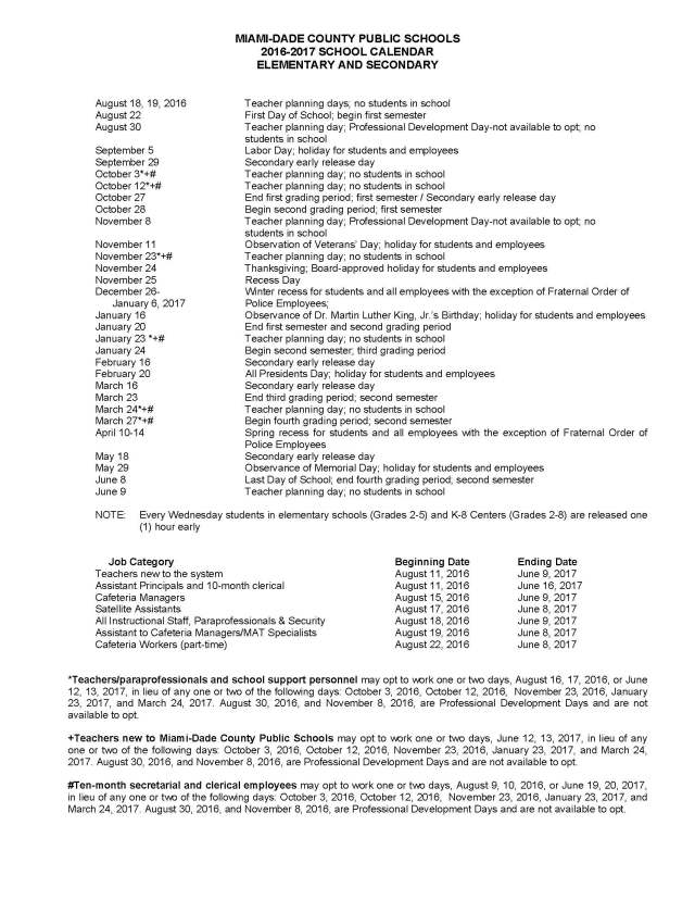 Mdcps Calendar 2022 23.Mdcps 2016 2017 Academic Calendar Dr Dorothy Bendross Mindingall