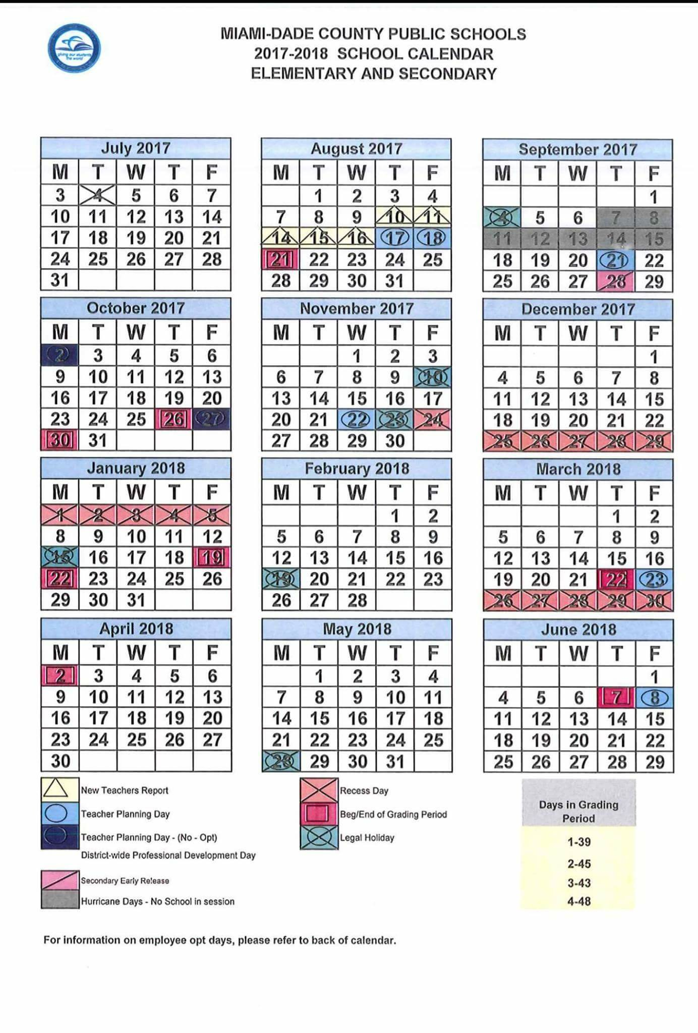 Revised 2017 18 School Calendar Dr Dorothy Bendross Mindingall